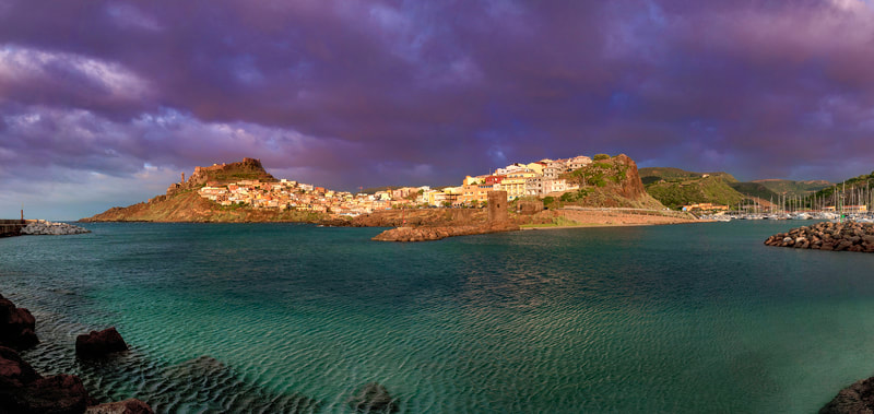 "Panoramic Image of ""Castelsardo"", old village in the north coast of Sardinia - Italy"